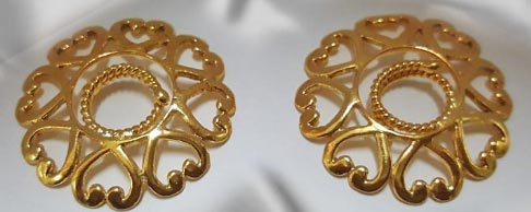 24ct gold plating over 98 /% solid silver Any woman can wear this non pierced nipple and body jewelry - Nipple Clips Sold in Pairs